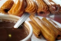 Churros com recheio de chocolate